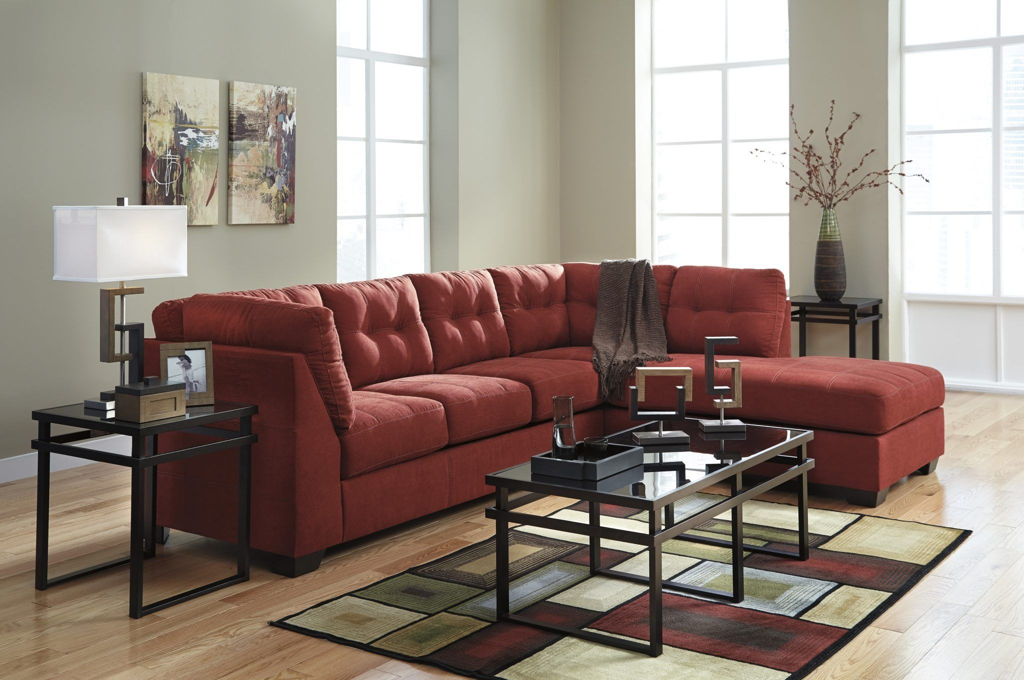 Ashley 452 Maier Sectional Furniture Sectional Sofa Chaise Sofa