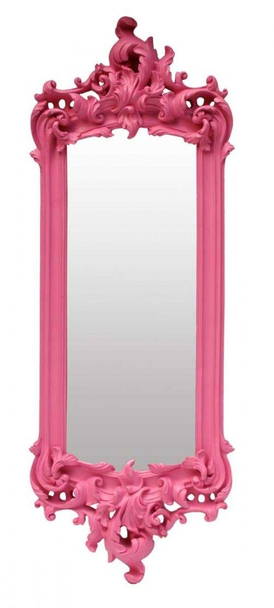 Pink Wall Mirror earth de fleur homewares - wall mirror pompadour pink | mirrors