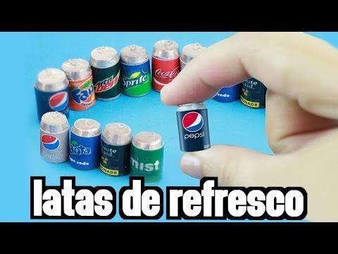 Casa De Muñecas 6 Fizzy Pop Soda latas Latas Miniatura Tienda Cocina Accesorio pub