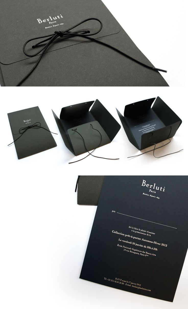invitation wording for networking event%0A BERLUTI  Interesting packaging for event invitation
