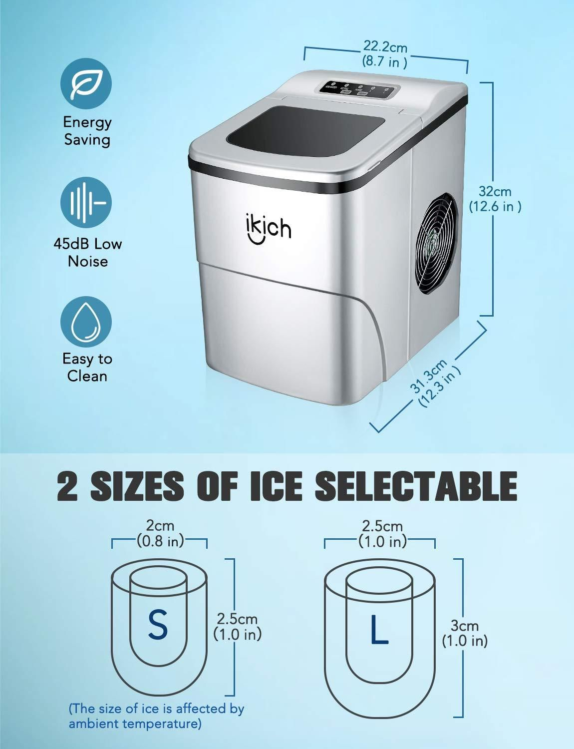 Portable Ice Maker Machine For Countertop Ice Cubes Ready In 6
