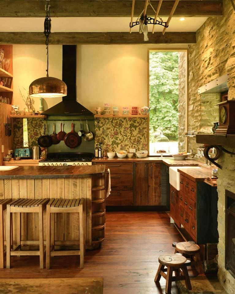 Country Kitchen Inspiration from Home & Garden Mag NZ's fb