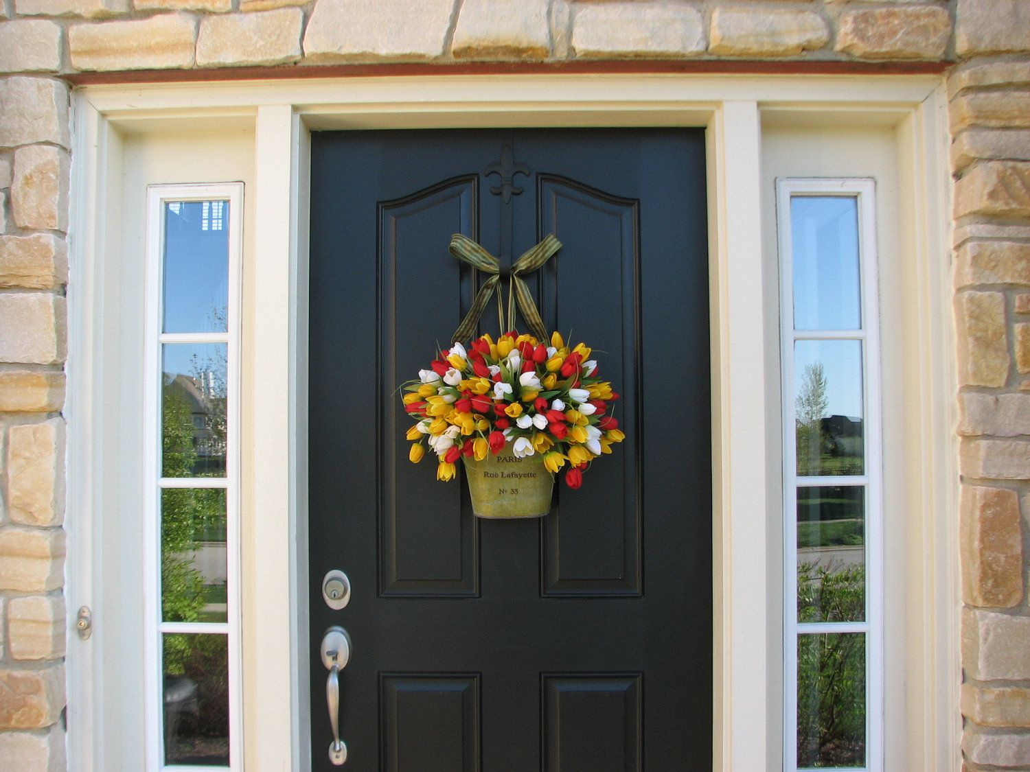 Spring Tulips Farmhouse Tulips Front Door Decor