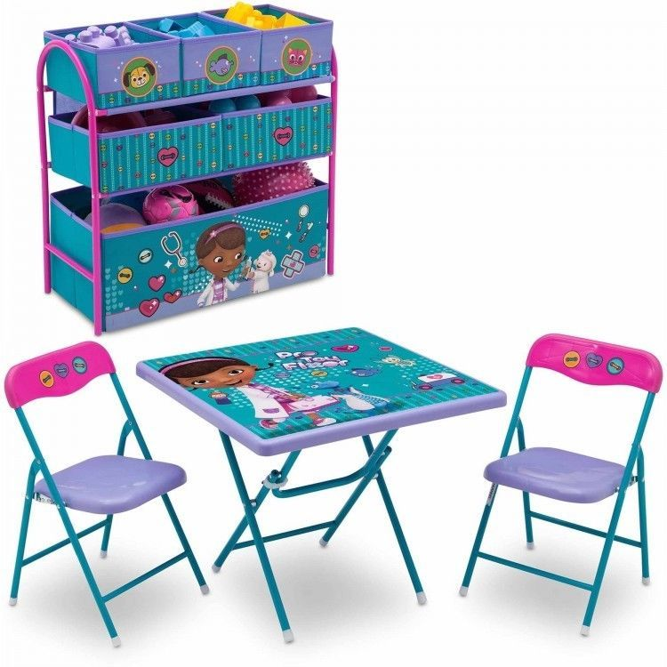 Doc McStuffins MultiBin Toy Organizer + Folding Table w ...