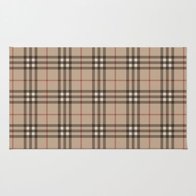7089c3a38a3 Burberry plaid Designer pattern Area   Throw Rug by All Is One -  28.00