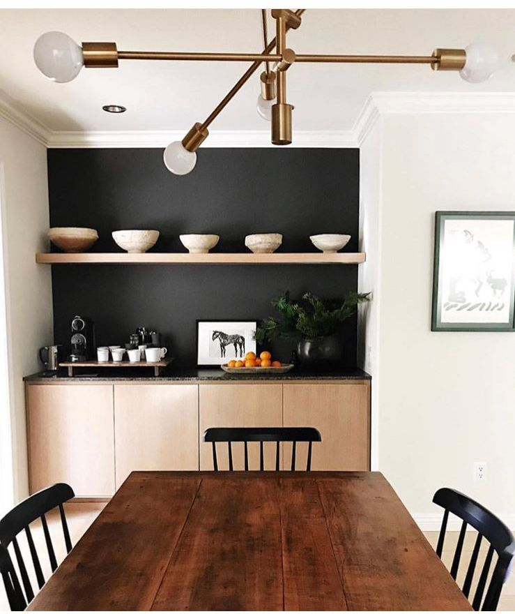 Black Accent Wall Dining Room: Pin By Marie Doyle On Dining Room