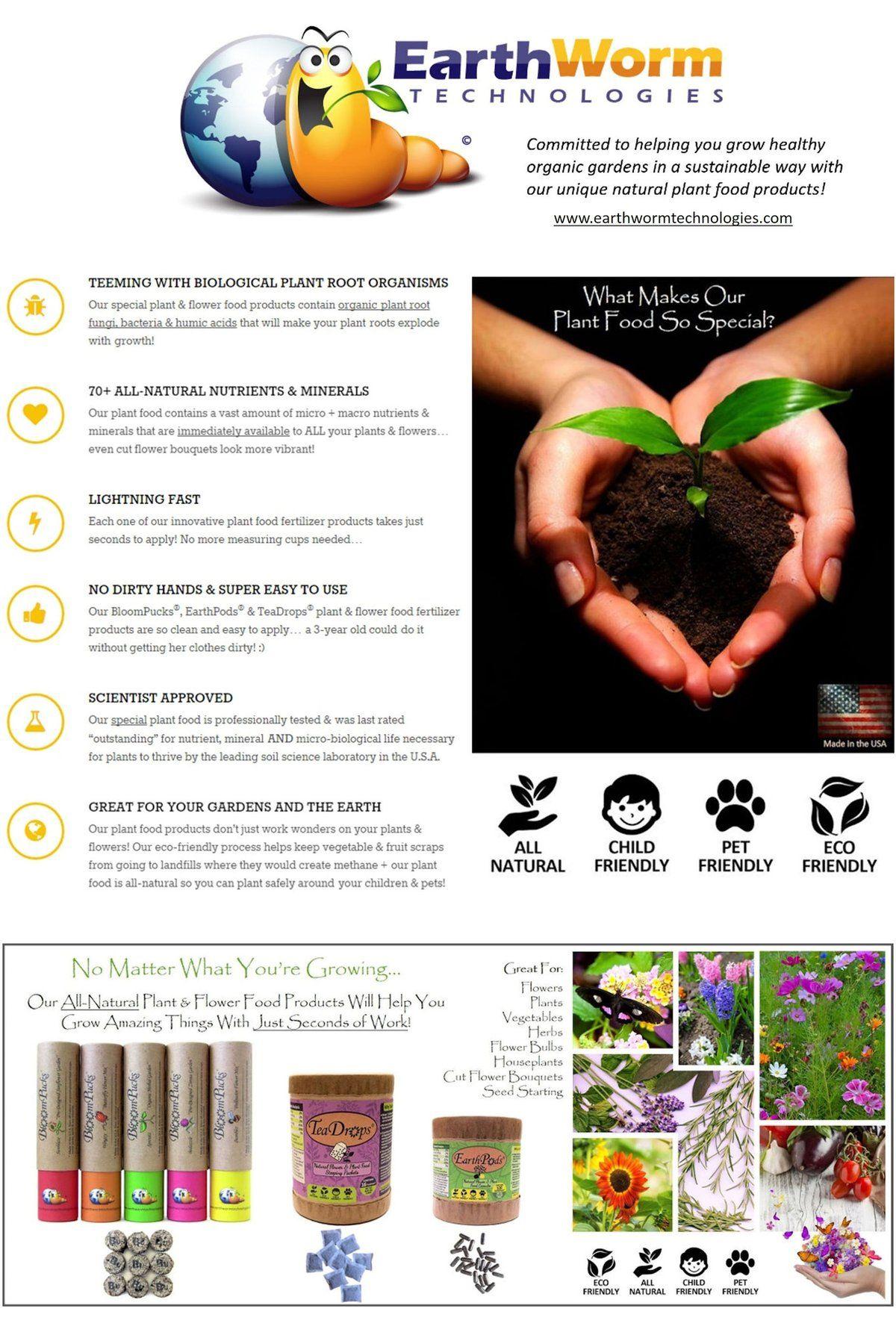 TeaDrops® Organic Plant Food & Flower Liquid Fertilizer