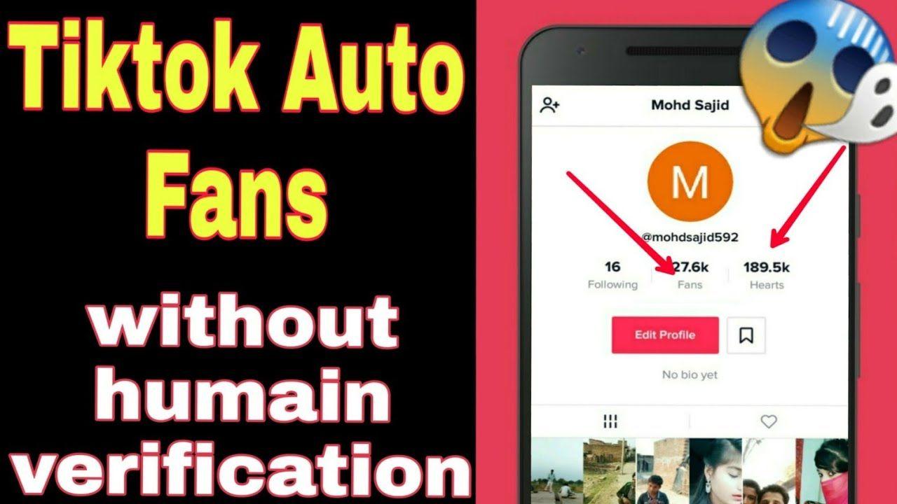 Tiktok Fans Generator Get Free Tiktok Followers Generator No Human Verification Method In 2020 Auto Follower How To Get Followers How To Get Famous