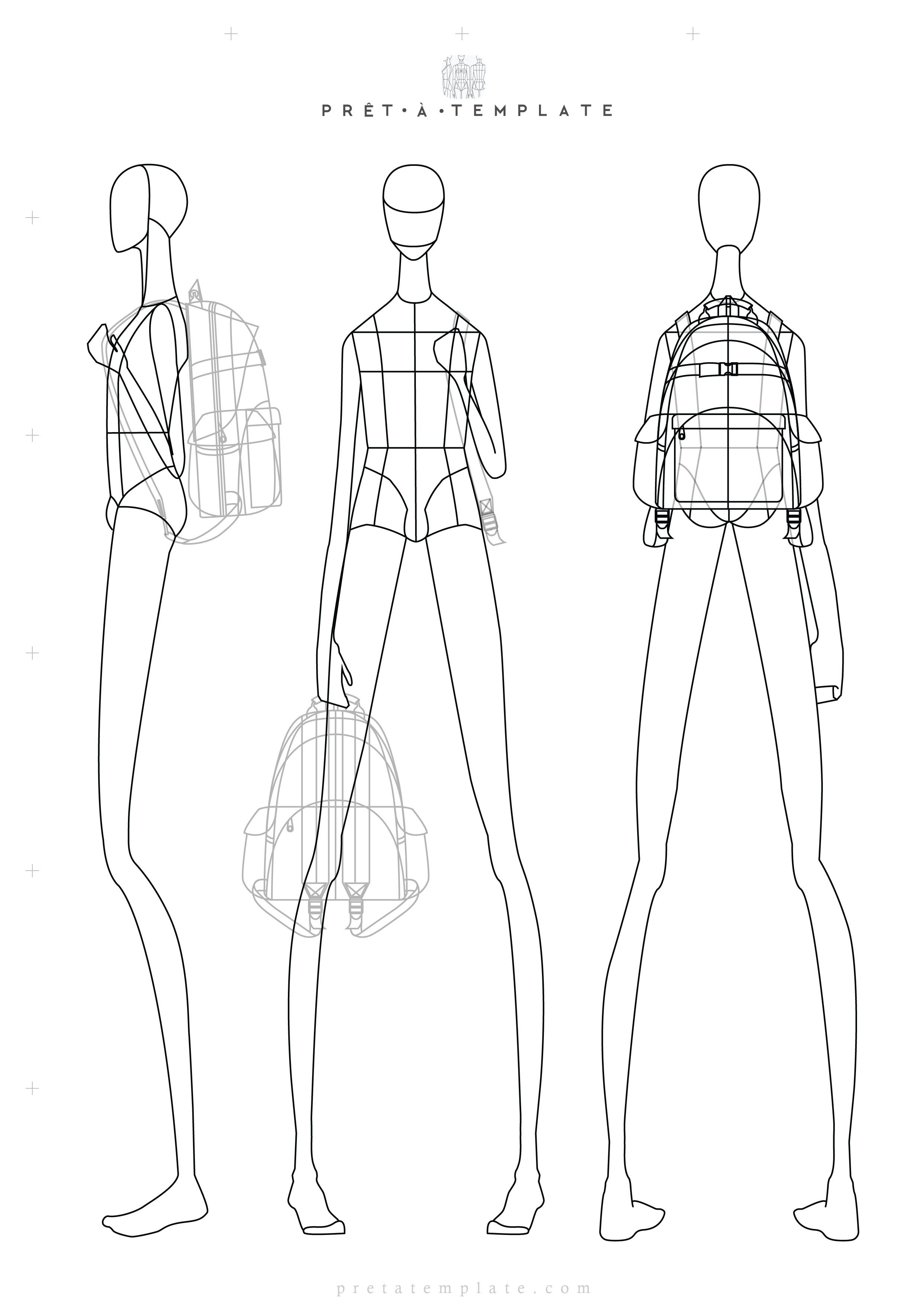 Man Croqui Body Figure Fashion Template D I Y Your Own