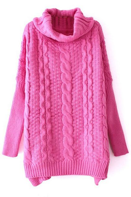 A bright and chunky oversize cable knit #sweater #fallstyle ...