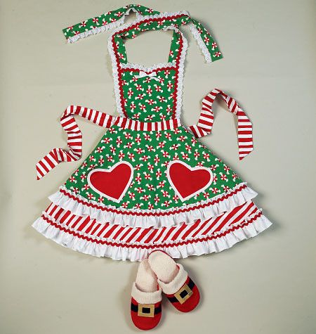 M6860 Aprons, Oven Mitts, Hat, Slippers, & Table Leg Decorations ...