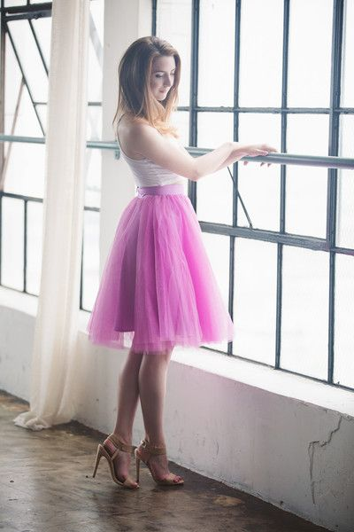 The Wendy - Radiant Orchid tulle skirt
