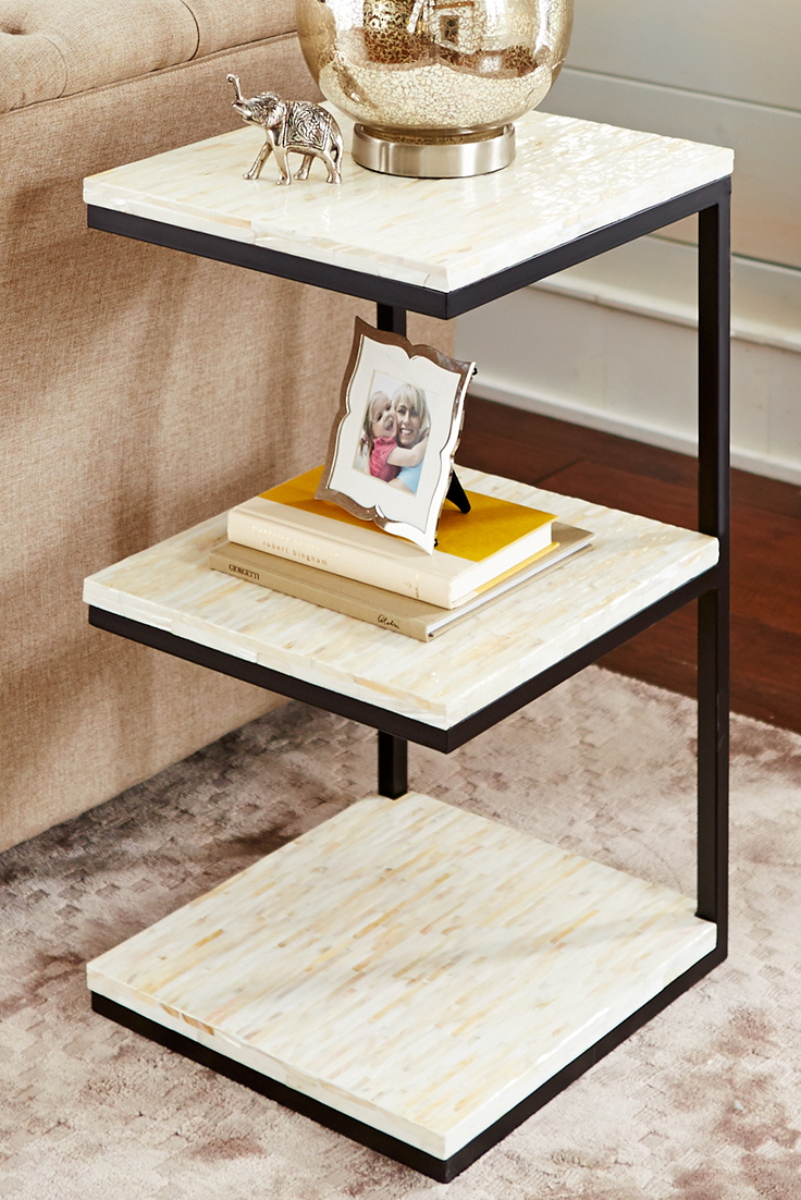 Mother Of Pearl 3 Tier Accent Table Accent Table Furniture