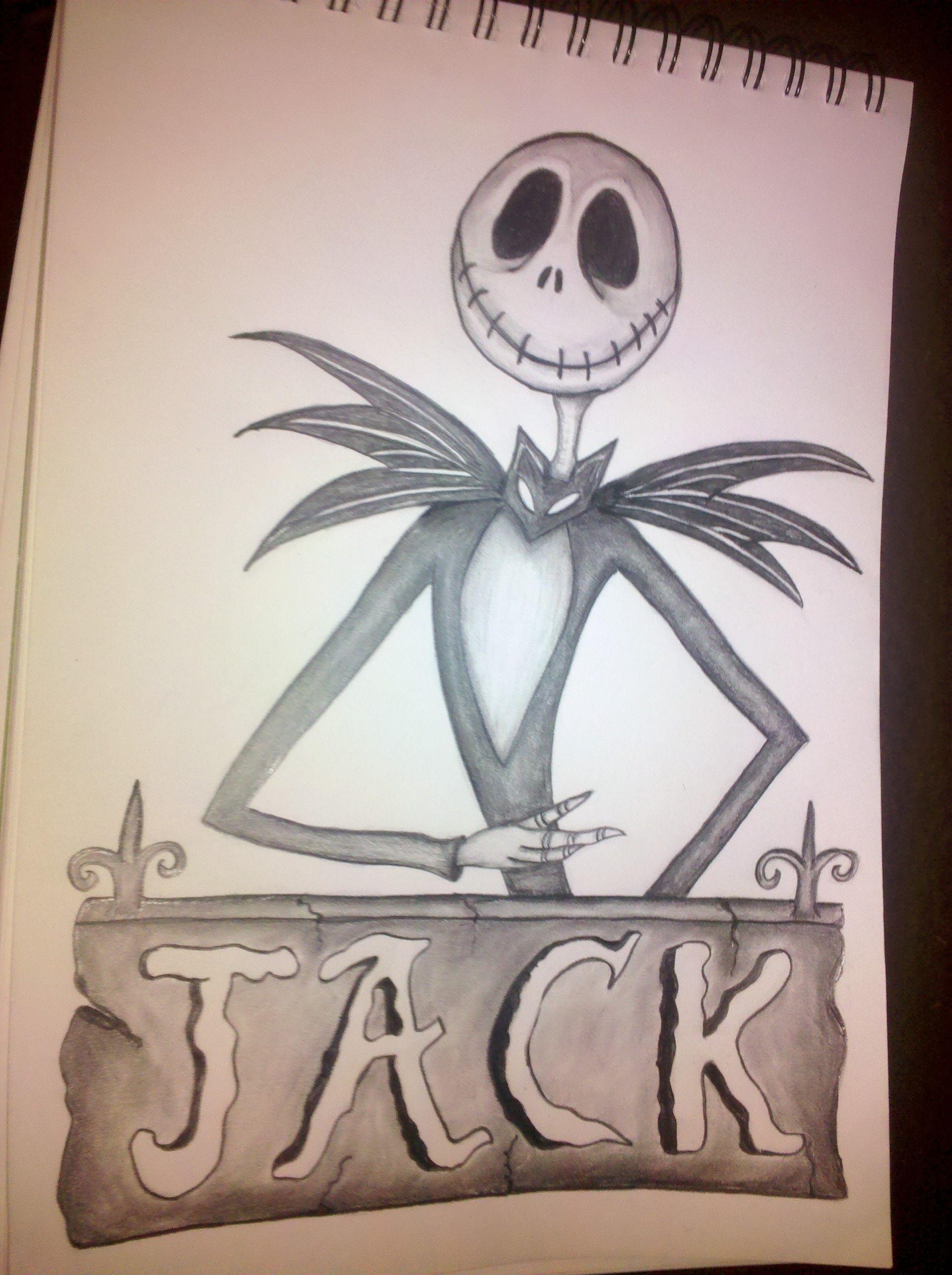 Jack Skellington Pencil Drawings Jack Skellington Drawing Drawings Jack Skellington