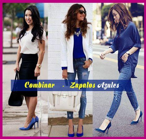 33880851f51 zapatos azules outfit ideas para como combinar zapatos azules ...