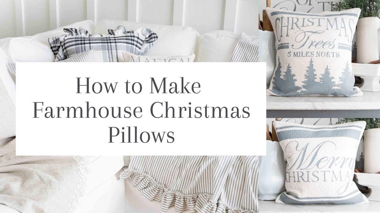 Diy Home Decor Farmhouse Christmas Pillows Diy Pillows Diy Home Decor Christmas Pillow