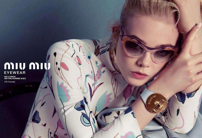 137493583f41 BYCHILL Elle Fanning in new 2014 Miu Miu eyewear campaign  MiuMiu