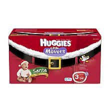 9 98 Huggies Santa Little Movers Diapers 66ct Size 3