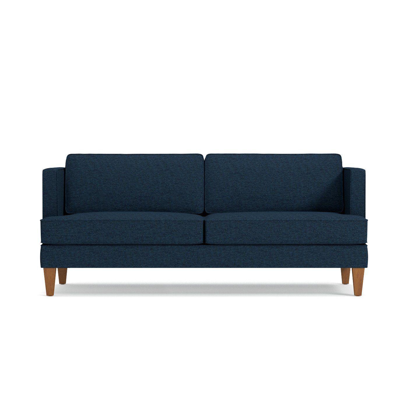 Wood Espresso Upholstery Mahogany Brown Sofa 82″W x 36 5″D x