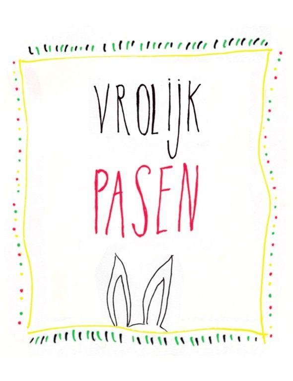 Fijne paashaas!    Made by www.miekinvorm.nl    illustration + design