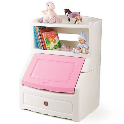 Kid Toy Box Cover Bookcase Storage Chest Book Doll Child Bedroom Shelf Kids Bookcase Storage