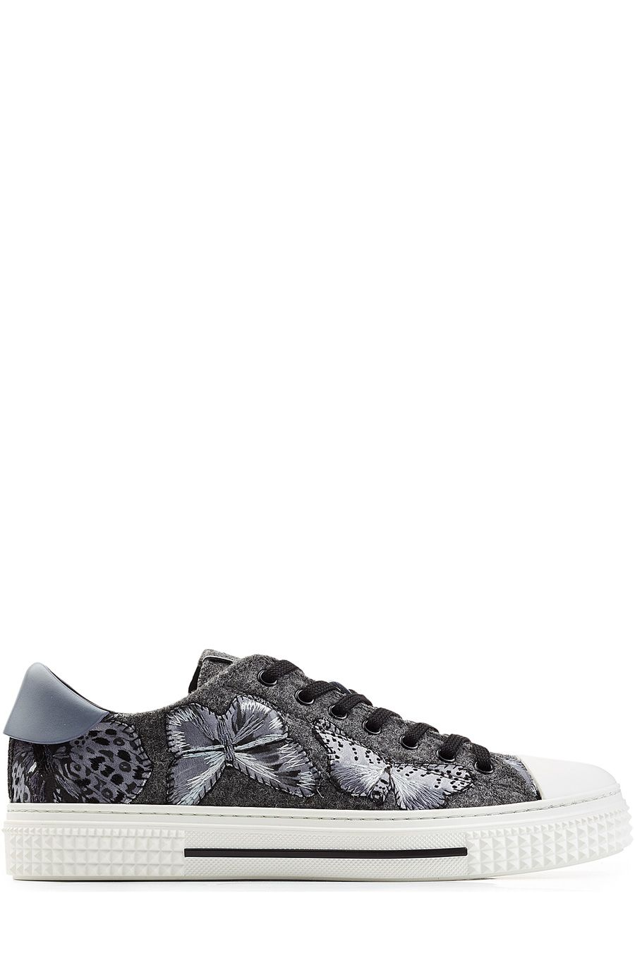 Shopping · VALENTINO Butterfly Embroidered Sneakers ...