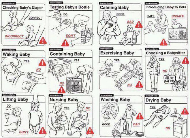 baby instruction manual u003e Niet alleen laten zien wat goed is - instruction manual