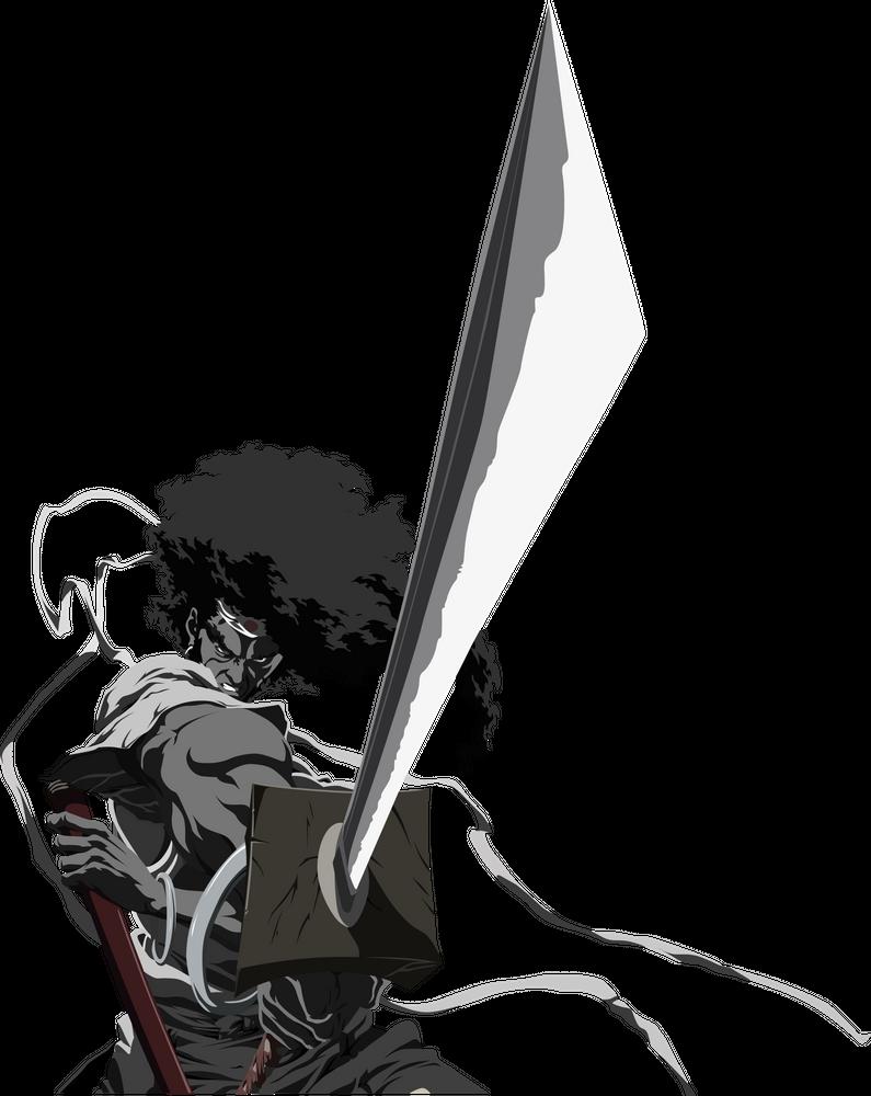 Afro Samurai T Shirt By Boninba Black Large Mens Fitted Tee Afro Samurai Samurai Anime Samurai Poses