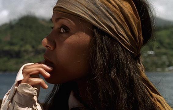 Anamaria Zoe Saldana Pirates Of The Caribbean Black