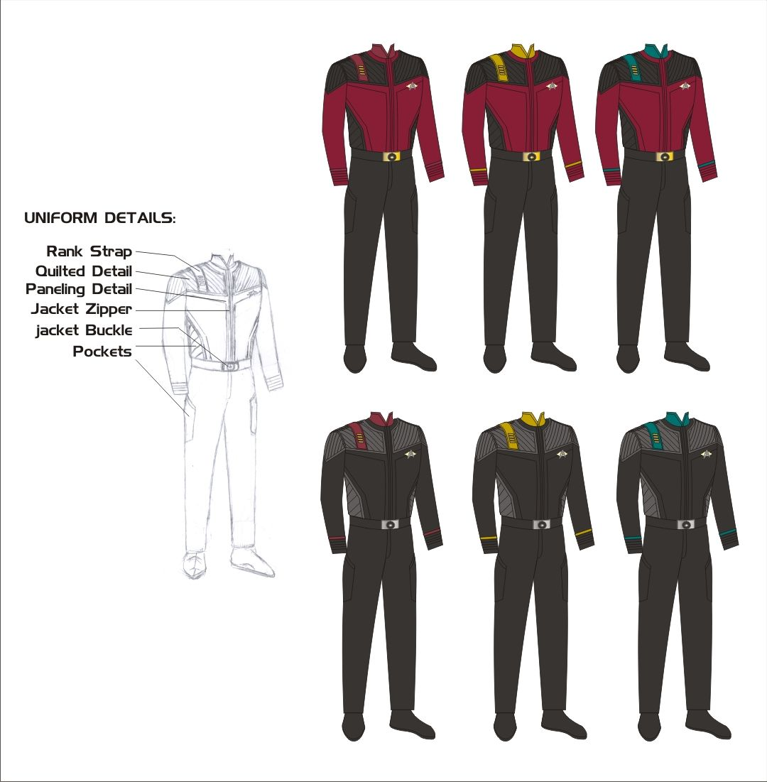 Star Trek Concept | Starfleet uniform concepts by Scott ...