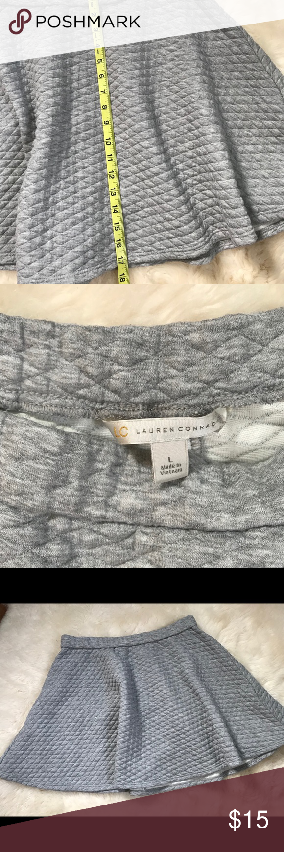Lauren Conrad Grey mini skirt Grey quilted mini skirt by Lauren Conrad No flaws Smoke free pet free home LC Lauren Conrad Skirts Circle & Skater #laurenconradhair Lauren Conrad Grey mini skirt Grey quilted mini skirt by Lauren Conrad No flaws Smoke free pet free home LC Lauren Conrad Skirts Circle & Skater #laurenconradhair