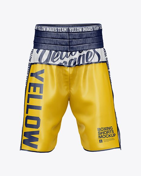 Download Two Panel Boxing Shorts Mockup Front View In Apparel Mockups On Yellow Images Object Mockups Boxing Shorts Mockup Psd Mockup Free Psd