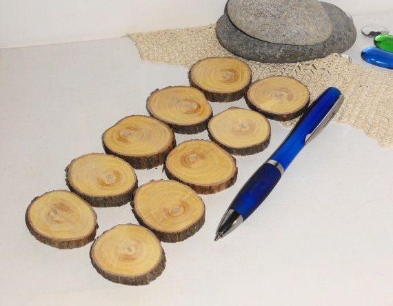 10 Small Wood Slices Wooden Discs Natural Charms By Nayasart