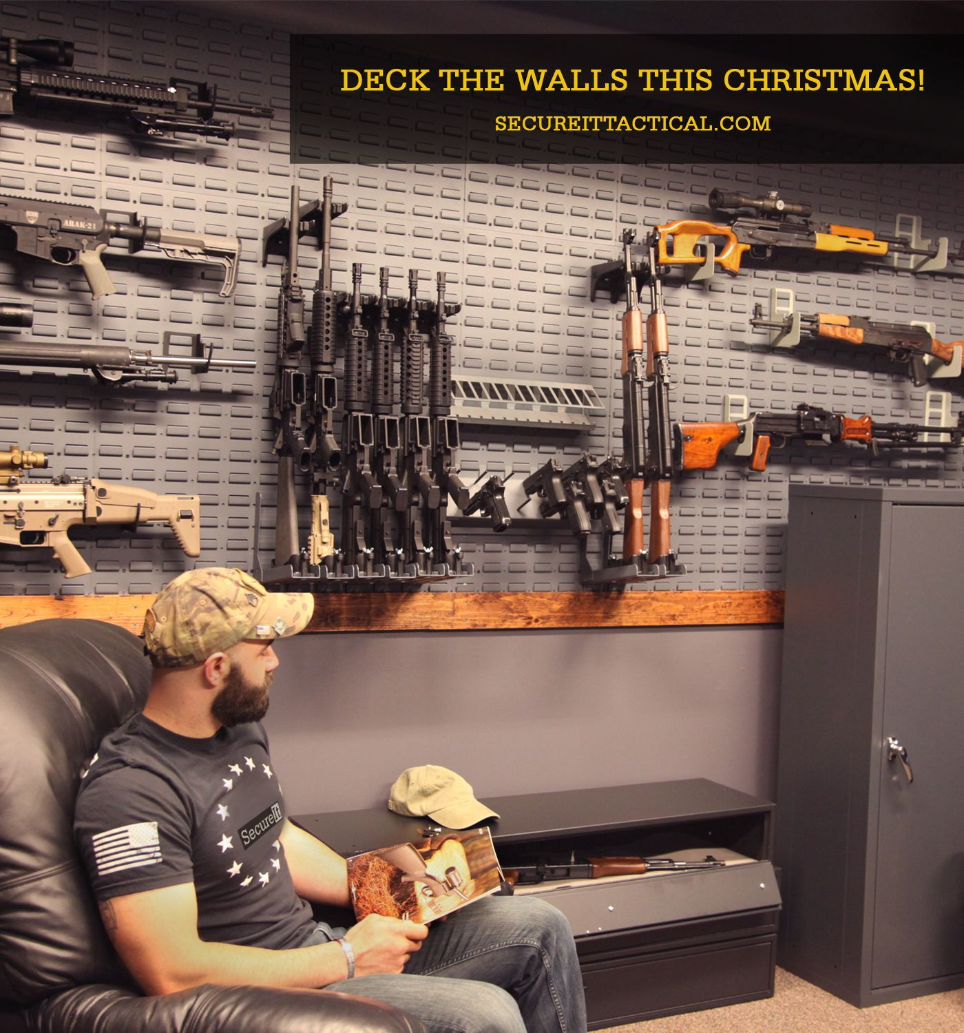 Is your armory room ready for the holidays let secureit for Gun safe room ideas