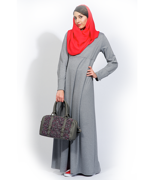 #IZZA -Adeline_feather grey #Abaya#Maxi Dress Step into our enchanted world, and find the perfect #Maxi-dress and feel  free with  #IZZApin izzafashion.com