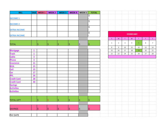 EDITABLE Excel Budget Spreadsheet by StationaryBazaar on Etsy - excel budget spreadsheet