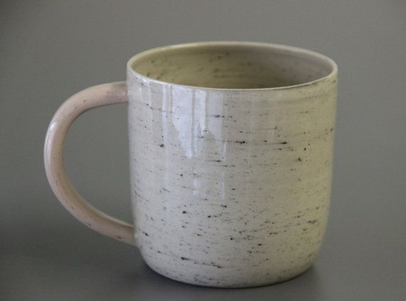 Extra Large Coffee Mug Modern Unique Ceramic Wheel Thrown Pottery