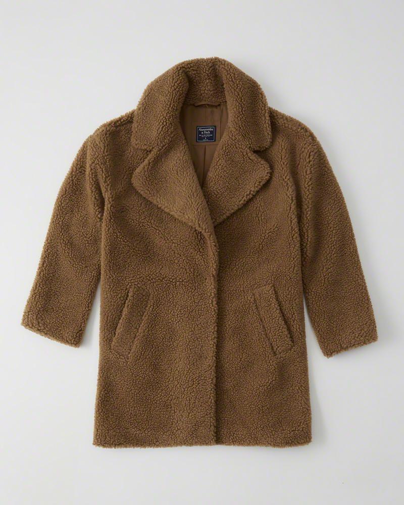 Womens Teddy Coat Womens Coats Jackets Abercrombie Com Giftryapp Teddy Coat Coat Sherpa Coat