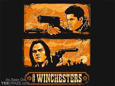 The Winchesters T-Shirt - http://teecraze.com/the-winchesters-t-shirt/ -  Designed by zerobriant