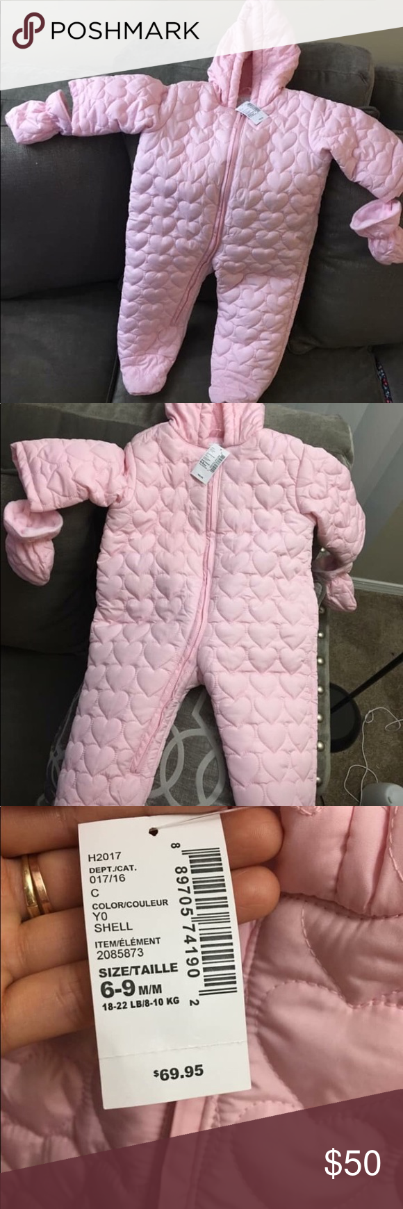 Taille Snowsuit Girls Grey Size 9 m