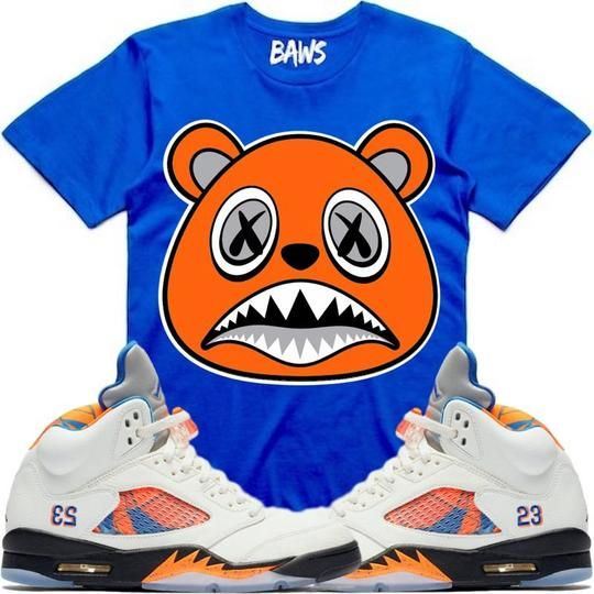 354ae355e1ae ORANGE BAWS Royal Sneaker Tees Shirt - Jordan 5 Barcelona