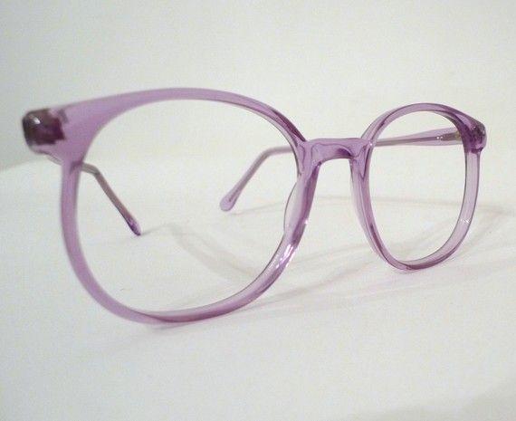 Vintage 80s Nos Lavender Preppy Eyeglasseframes Lilac