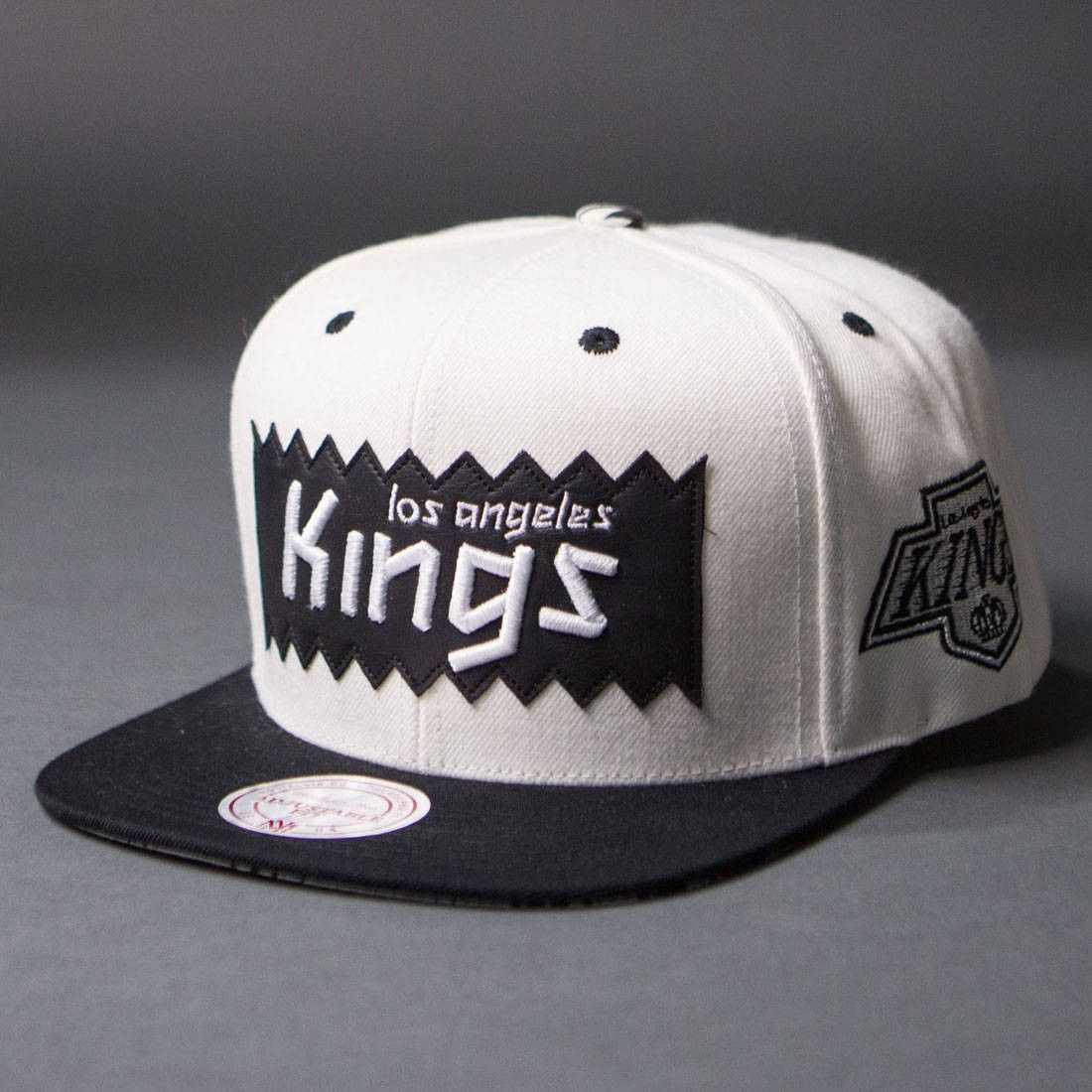 BAIT x NHL x Mitchell And Ness Los Angeles Kings STA3 Wool Snapback Cap  (white   black) 967c1d4c743