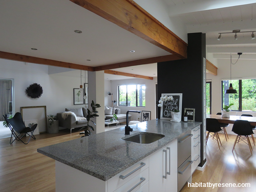 new oak flooring is beautifully complemented by walls throughout the rh pinterest com