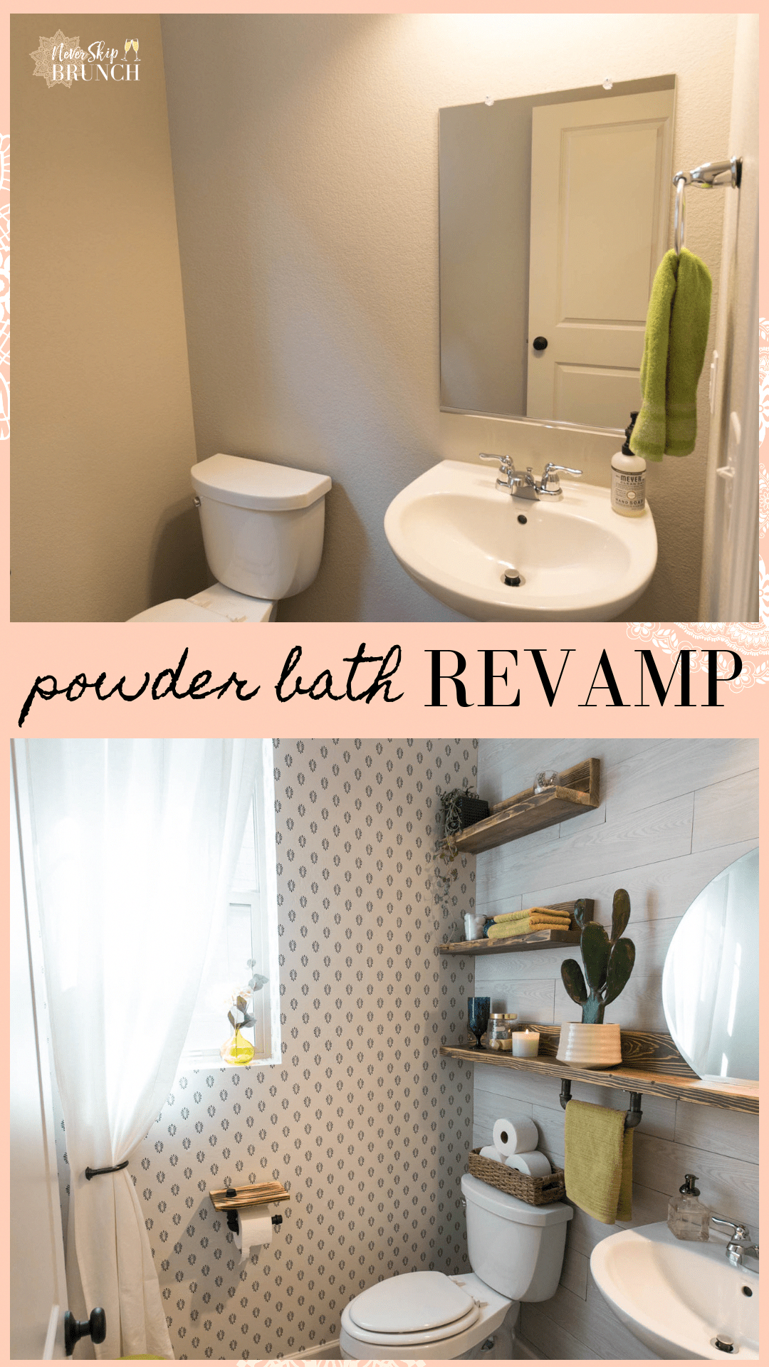 this powder bath makeover gives you small powder bathroom ideas for rh pinterest com