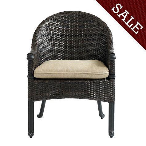 set of 2 amalfi wicker armchairs