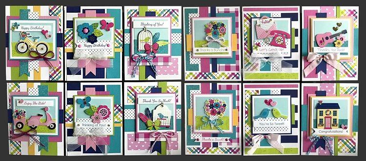 Bright Cheery Card Kit Kim S Card Kits Handmade Greeting