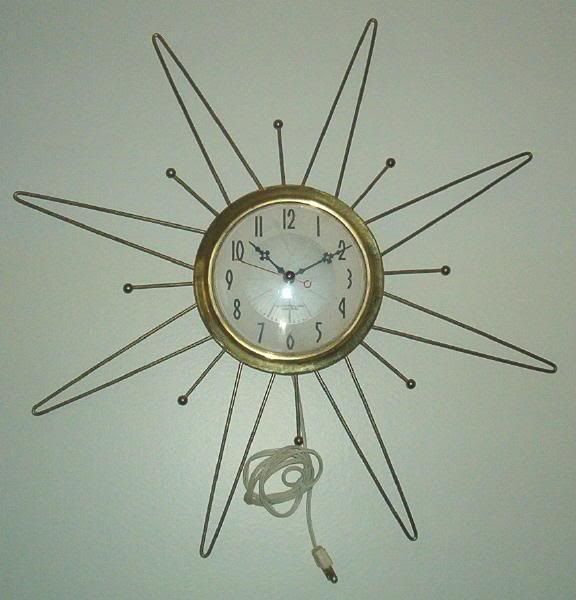 Uncle Atom Project Converting a vintage starburst wall clock to