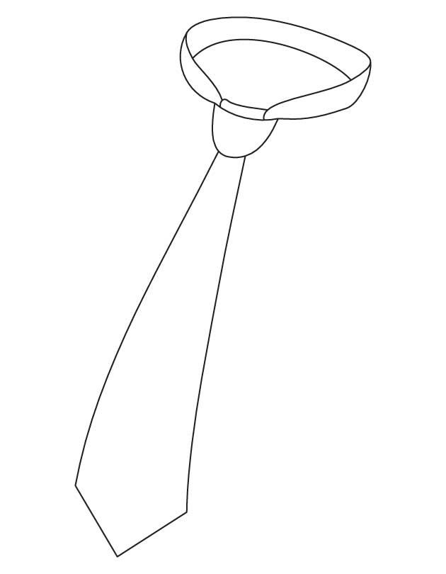 Neck Tie Coloring Page | It's National Tie Month! | Pinterest