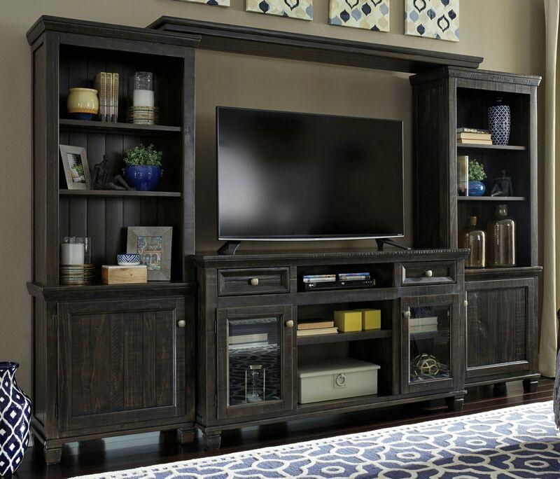 Ashley Furniture W636 30 33 34 35 4 Pc Townser Waxy Greyish Brown